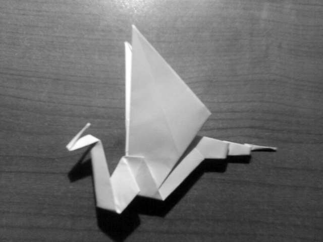 Simple Origami Dragon Step 30