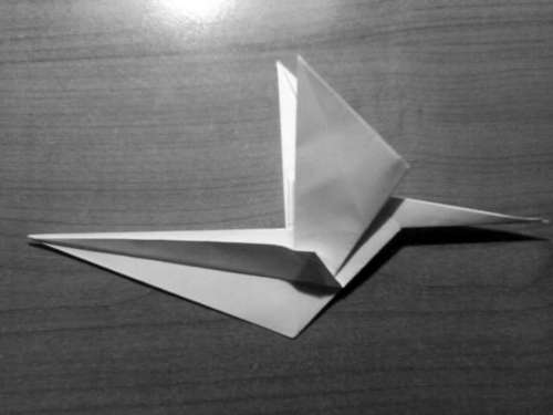 Simple Origami Dragon Step 20
