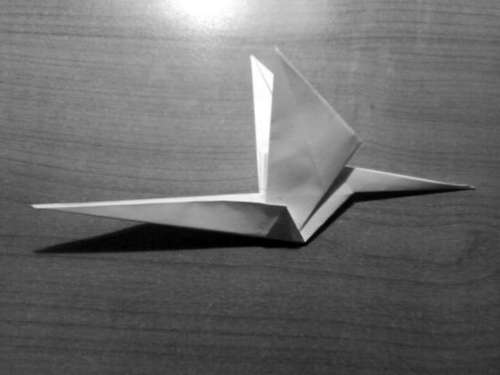 Simple Origami Dragon Step 21