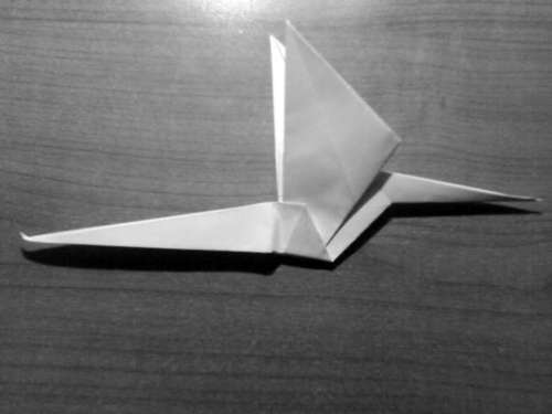 Simple Origami Dragon Step 22