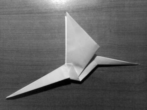Simple Origami Dragon Step 24