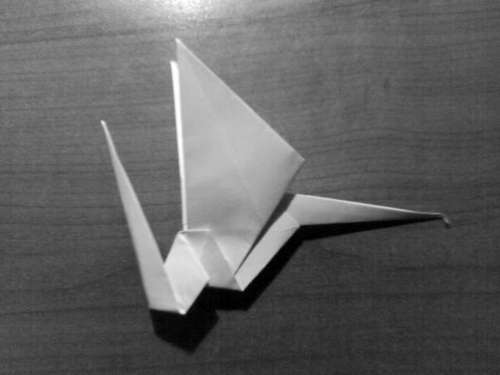 Simple Origami Dragon Step 27