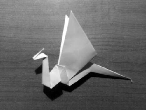 Simple Origami Dragon Step 29